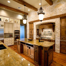 Mediterranean Kitchen by Russell Eppright Custom Homes