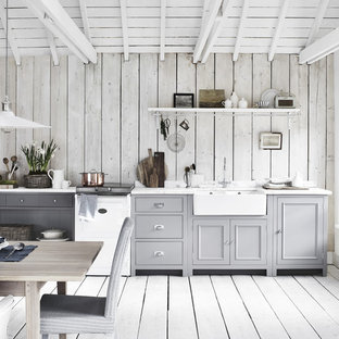 Design ideas for a rustic kitchen in London.