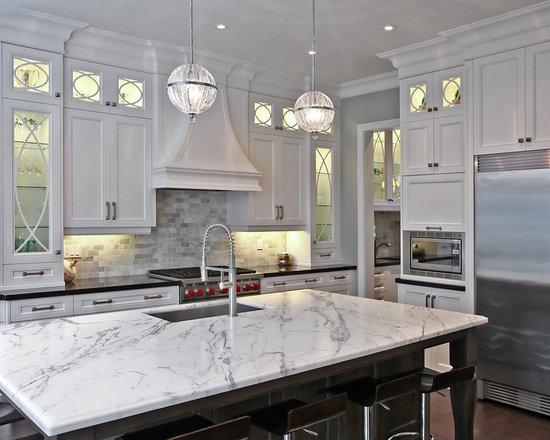 White And Grey Traditional Kitchen white and gray granite | houzz