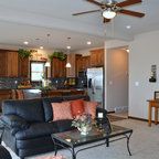 Light Brown Kitchen Cabinets | Sandstone Rope Door | Kitchen Cabinet Kings - Traditional ...
