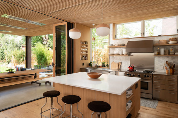 Midcentury Kitchen by Dane Cronin Photography