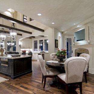 Open concept kitchen - traditional brown floor open concept kitchen idea in Minneapolis