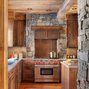 Rustic kitchen designs - Kitchen - rustic kitchen idea in Portland Maine