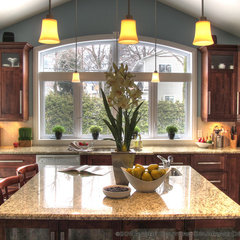 contemporary kitchen by Andre Couture Coloriste Decorateur