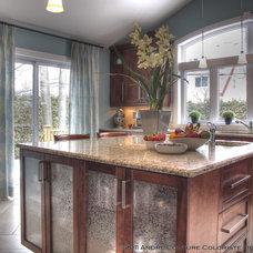 Contemporary Kitchen by Andre Couture Coloriste Decorateur