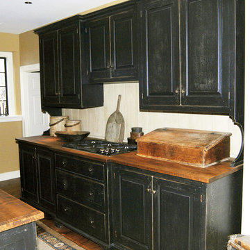 St. Louis Black Cherry and Curly Maple Kitchen