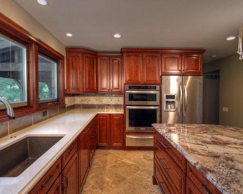 Dreamy Marfil Caesarstone Counter Kitchen Design Ideas
