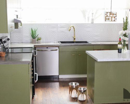 Midcentury 3m kitchen design ideas renovations photos for 3m kitchen ideas