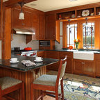 pictures of kitchens with cherry cabinets st paul bungalow remodel craftsman kitchen 9117