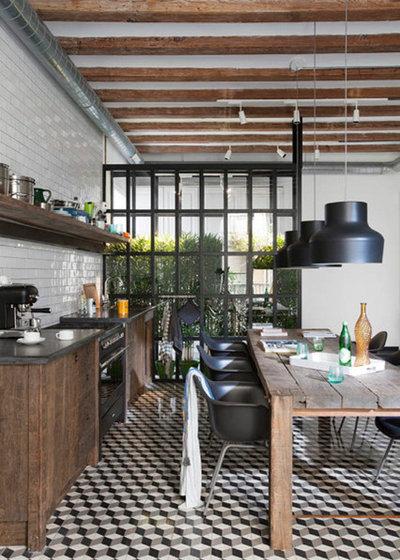 14 id es d co pour une cuisine industrielle - Table cuisine style industriel ...
