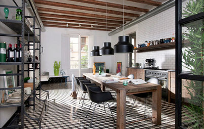 Kitchen of the Week: Spacious and Industrial in Barcelona