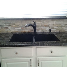 Traditional Kitchen by Midwest Tile & Granite Oklahoma City