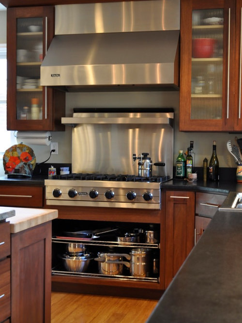 Stained lyptus for Anigre kitchen cabinets