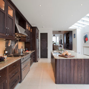 Stained Oak Kitchen, Queens Park NW6