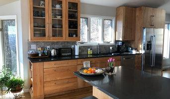 Stainless, Red Birch Kitchen