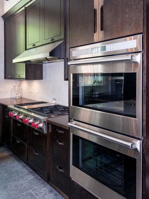 moderne wohnk chen mit kupfer arbeitsplatte ideen bilder. Black Bedroom Furniture Sets. Home Design Ideas