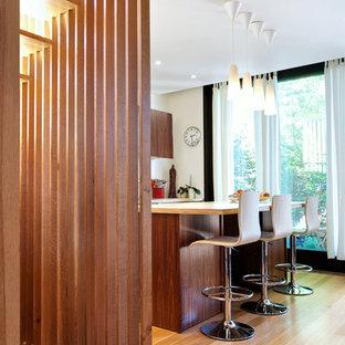 Stair Slats + Walnut Kitchen