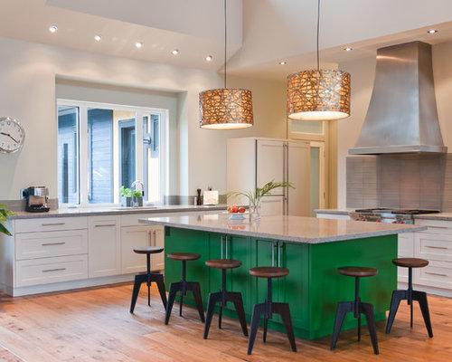 Green Kitchen Island Houzz
