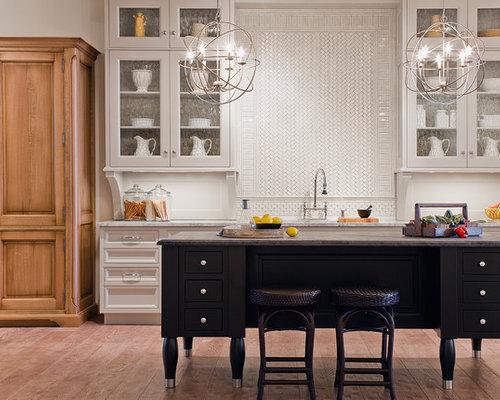 Backsplash Honey Oak Cabinets Home Design Ideas, Pictures ...