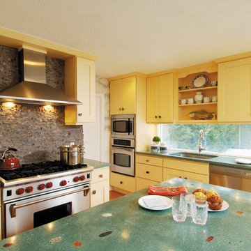 StarMark Cabinetry at Designs by Dawn Kitchen in Maple finished in Eggnog