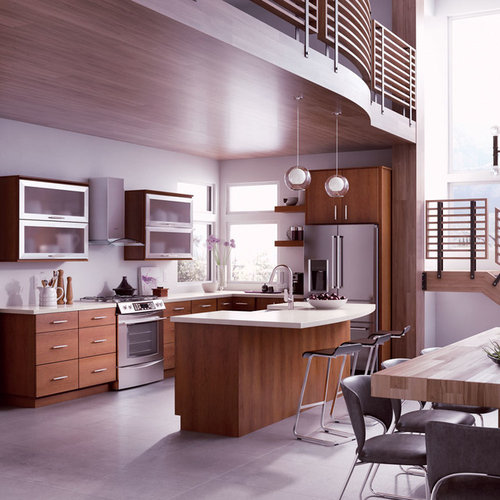 Country Kitchen Ramona: StarMark Cabinetry Contemporary Kitchen In Cherry