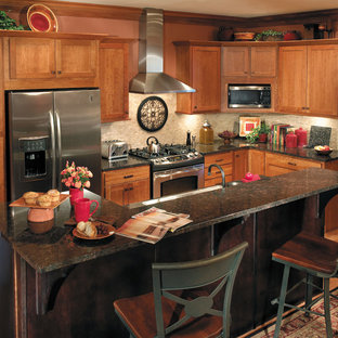 StarMark Cabinetry Kitchen with sideboard and island