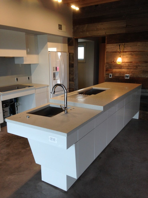 Baltimore kitchen design ideas renovations photos with concrete benchtops - Kitchen design baltimore ...