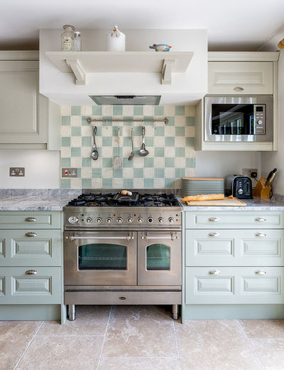 Transitional Kitchen by Katie Malik Interiors
