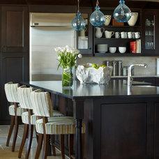 Transitional Kitchen by Donna Figg Design