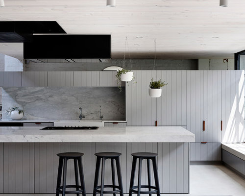 industrial kitchen furniture large industrial galley kitchen in melbourne with a farmhouse sink grey cabinets