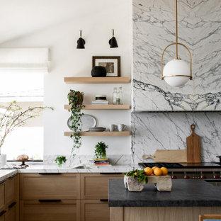 Farmhouse kitchen photos - Kitchen - country kitchen idea in Orange County