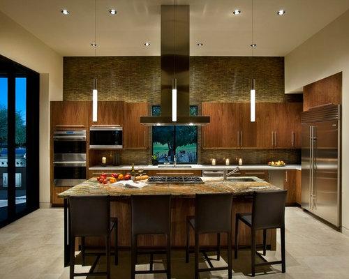 Kitchen Backsplash Above Cabinets backsplash above cabinets | houzz