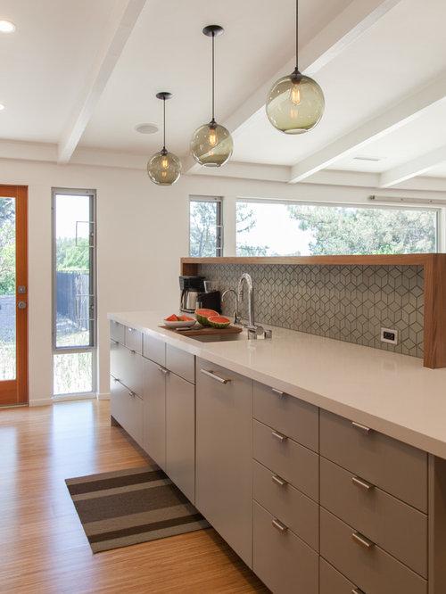 cuisine r tro avec un vier 1 bac photos et id es d co de cuisines. Black Bedroom Furniture Sets. Home Design Ideas