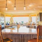 Ceiling Trellis Over Custom Kitchen Southwestern