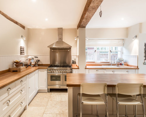 Country L Shaped Kitchen Design Ideas Renovations Photos