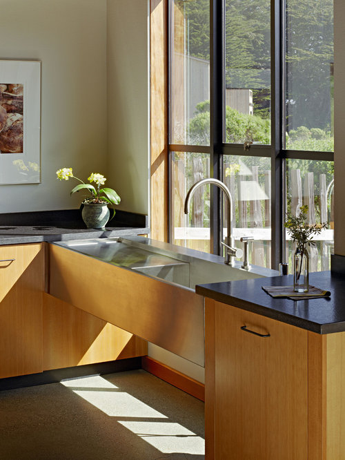 Inspiration For A Contemporary Kitchen In San Francisco With An Integrated  Sink, Flat Panel Part 51