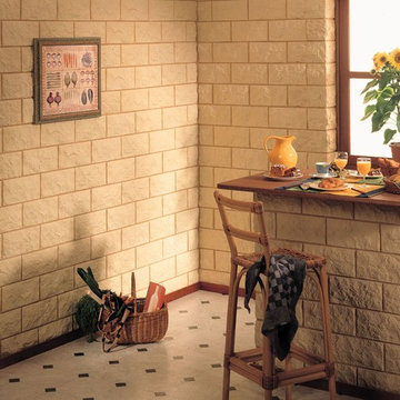 Stone veneer wall covering for interior and exterior, Stone Design Euroc series