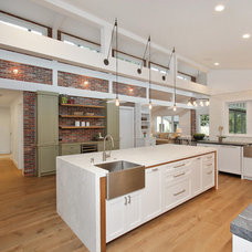 Farmhouse Kitchen by Hughes Construction, Inc