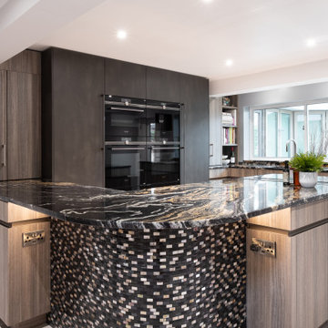 Stonehouse project featurig opulent worktops