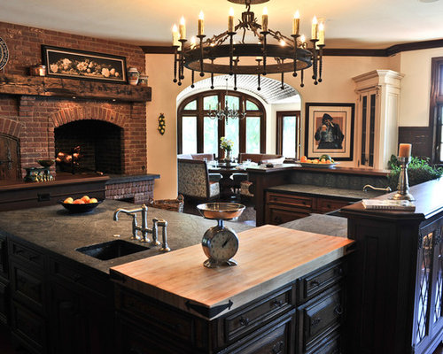 kitchen fireplace houzz kitchen corner decorating ideas tips space saving solutions