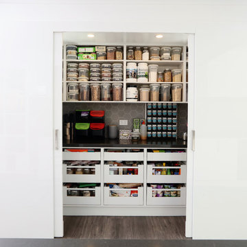Storage aplenty with this well planned Walk In Pantry