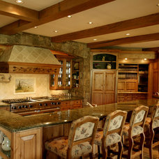 Rustic Kitchen by Paddle Creek Design