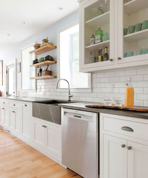 Nantucket  Double Bowl Gray Fireclay Kitchen Sink