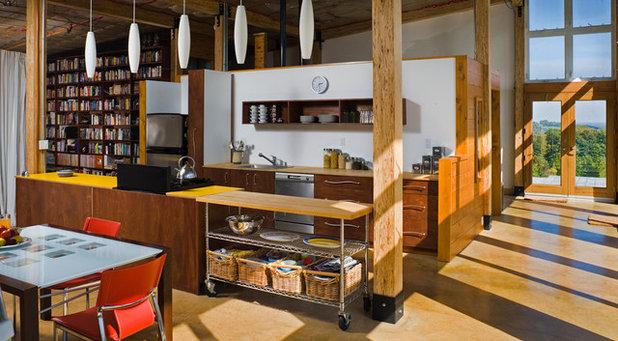 コンテンポラリー キッチン by Electric Bowery