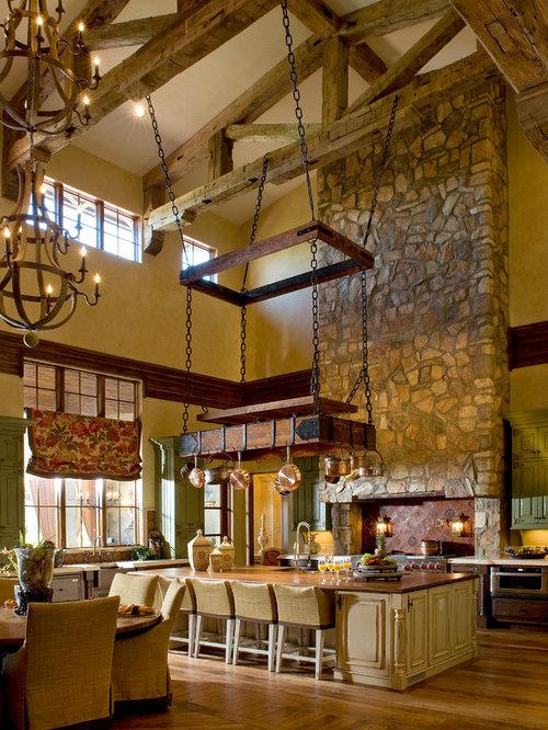 Best mediterranean high ceiling kitchen design ideas for High ceiling kitchen ideas