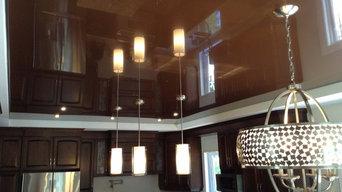 Stretch ceiling in Kitchen