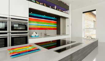 Stripe Glass Splashback