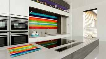 Stripe Glass Splashback