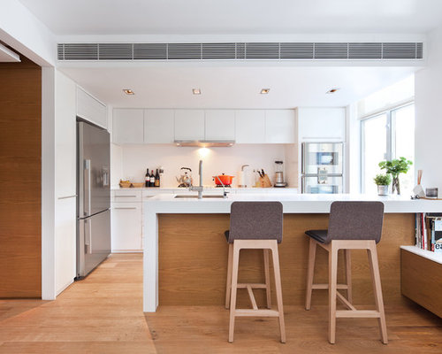 Hong Kong Kitchen With White Splashback Design Ideas Pictures Inspiration Houzz