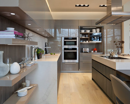 modern eat in kitchen pictures minimalist light wood floor eat in kitchen photo